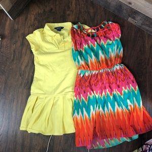 Set of 2 girl summer dresses size 12 Ralph Lauren